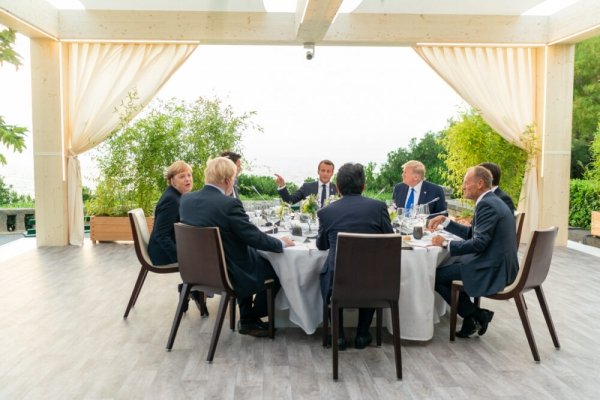 G-7 allies in turmoil over trade and climate