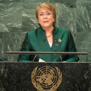 Bachelet named U.N. human rights chief